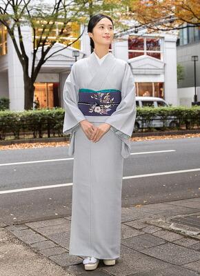ウォッシャブル 着物 ソアナチュア iromuji 白菫色
