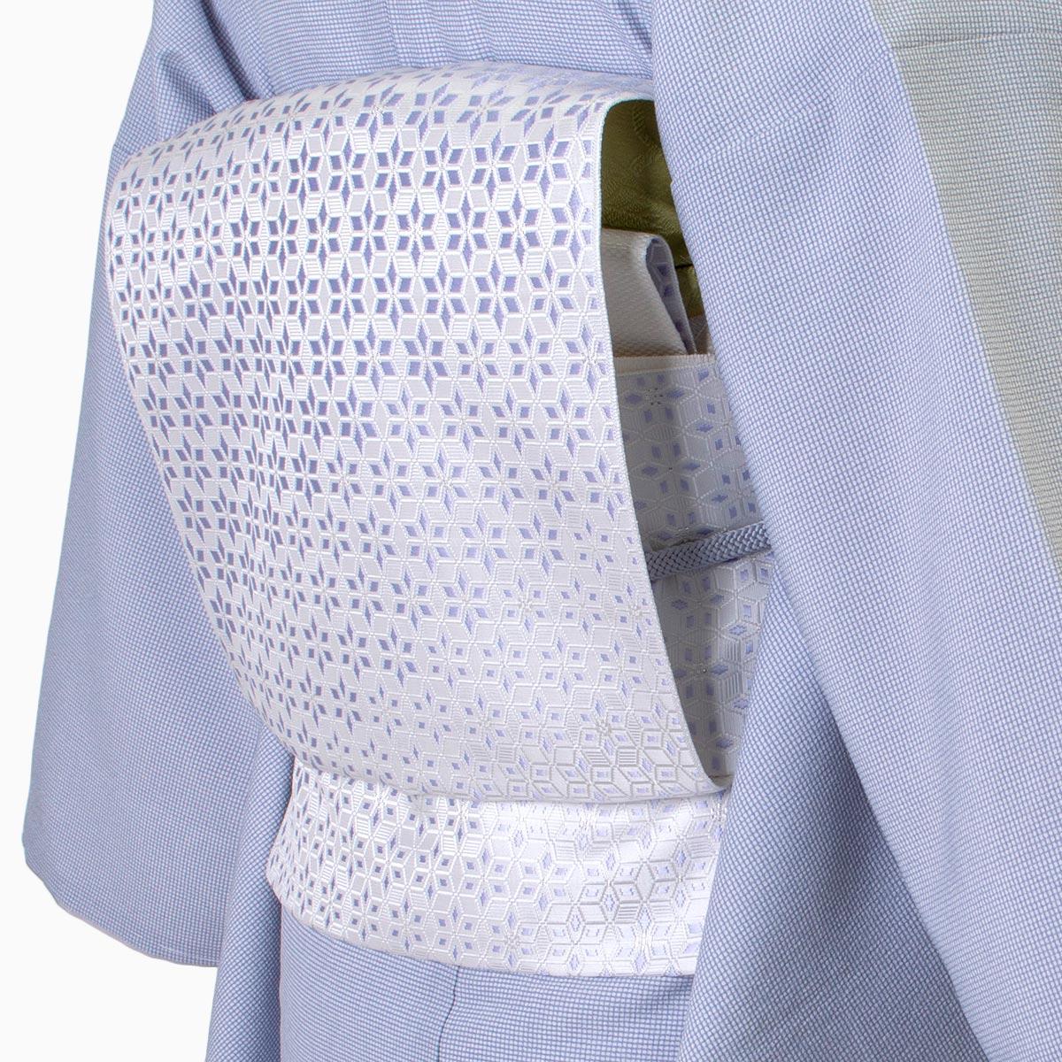 着物屋くるり  博多織名古屋帯【麻の葉切子】