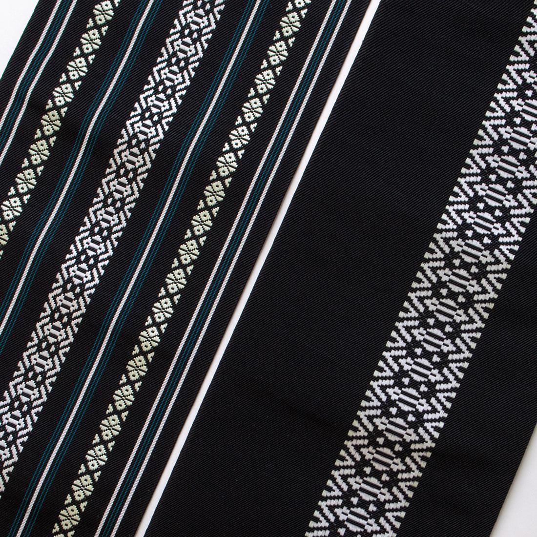 着物屋 くるり 博多織半幅帯【博多献上】黒