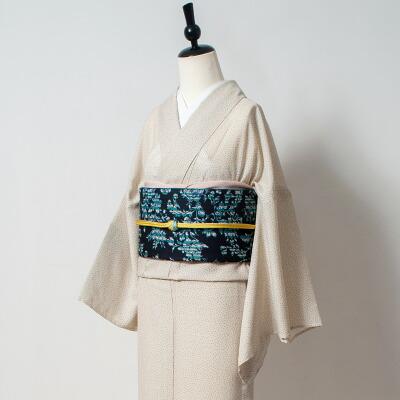 トリエ プレタ着物 単衣【プリントドット】アイボリー