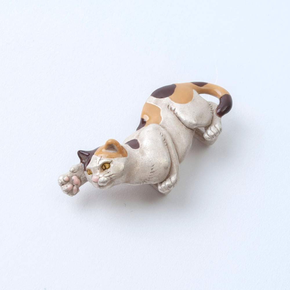 SUU 帯留め 作家 ハンドメイド 猫