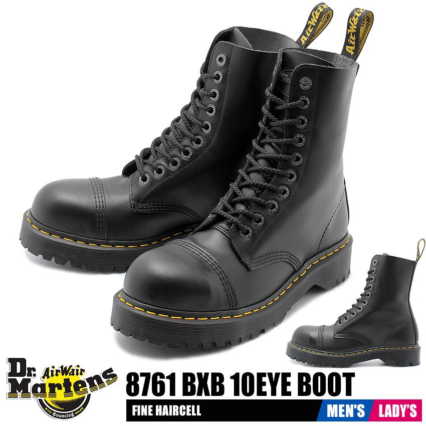 kup popularne wyprzedaż ze zniżką sprzedaż hurtowa Doctor Martin DR. MARTENS 8761 BXB 10 hall boots straight tip race up steel  metal men gap Dis shoes shoes safety boots safety shoes long boots leather  ...