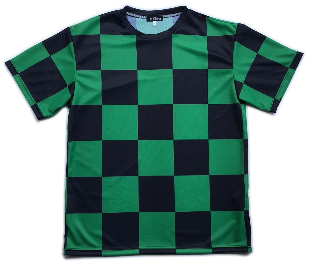 緑黒チェック服