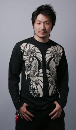 長袖Tシャツ-和柄/刺青/梵字