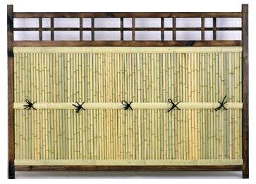 目隠し竹フェンス