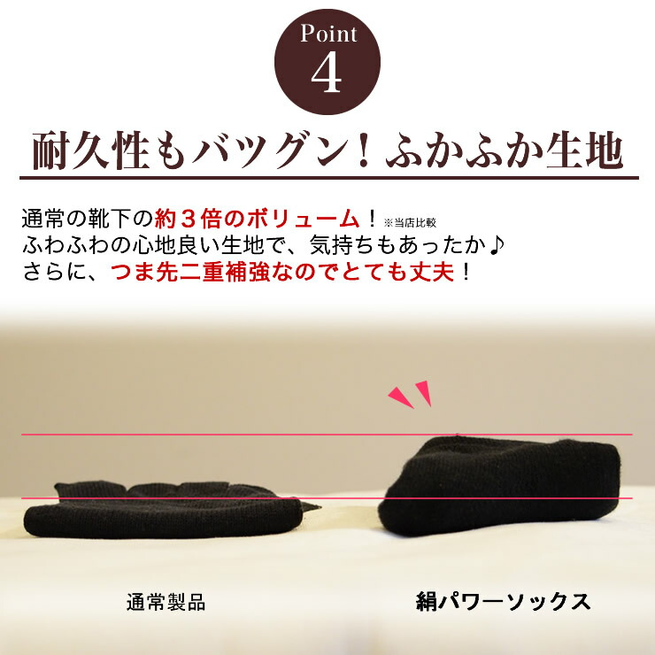 絹シルクパワーソックスの商品説明