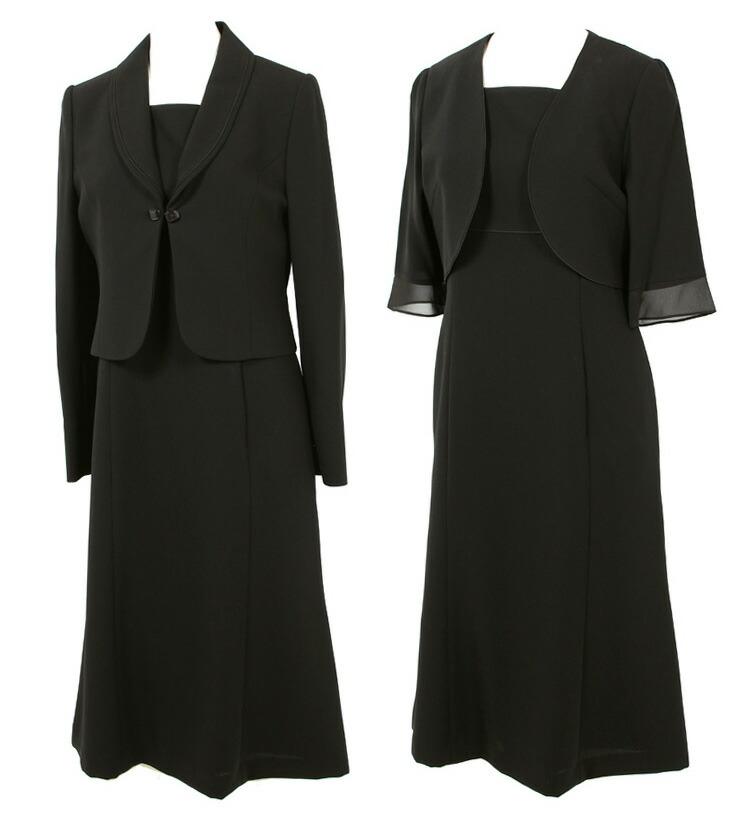 京都スタイル ブラックフォーマル(喪服・礼服) 授乳対応 前開き アンサンブル フォーマルスーツ