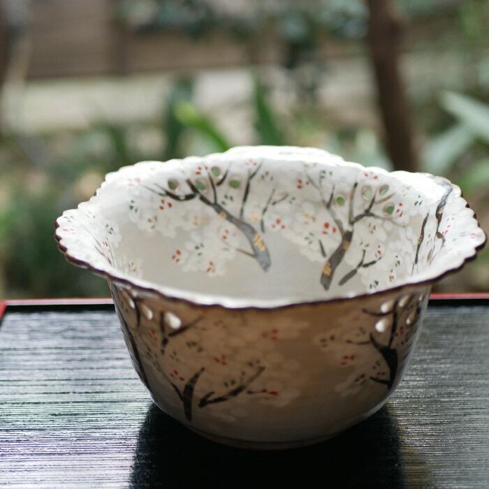 乾山写し 色絵 反り鉢 桜吉野山