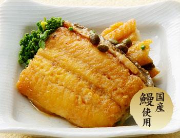 国産鰻使用。花山椒と鰻の旨煮