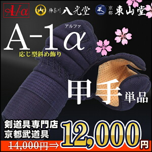 新入生応援特別価格A-1α小手単品