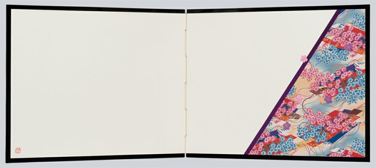 押絵裂どり屏風 透かし・扇面透かし 秋草・SADATO KUROTAKE(黒竹節人)プロデュース・京都くろちく