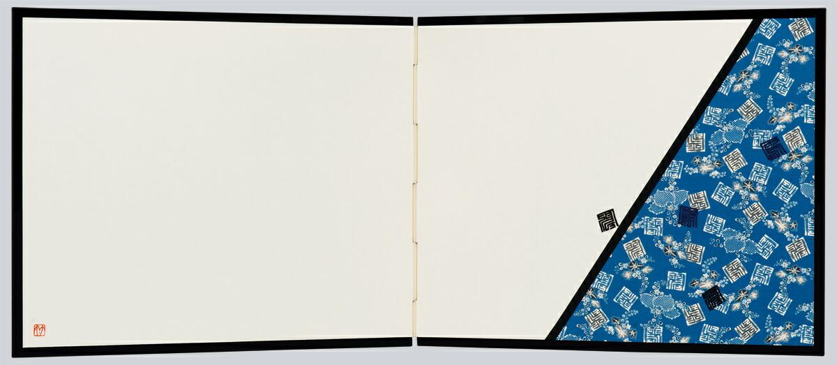 押絵裂どり屏風 大・斜め 桐角紋・SADATO KUROTAKE(黒竹節人)プロデュース・京都くろちく