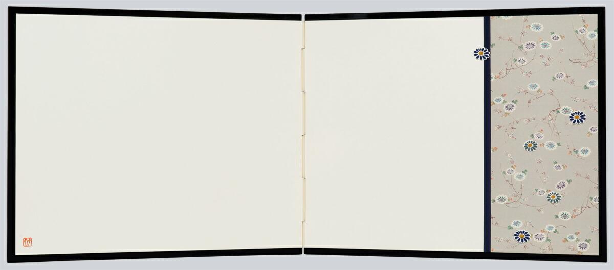 押絵裂どり屏風 大・片縞 菊桜・SADATO KUROTAKE(黒竹節人)プロデュース・京都くろちく
