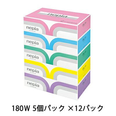 ☆送料無料 ネピア プレミアムソフト ティッシュペーパー 5箱×12パック 00191