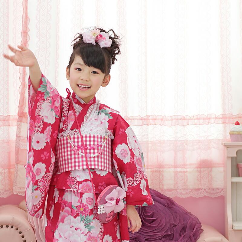 京都瑠璃雛菊のこどもゆかた