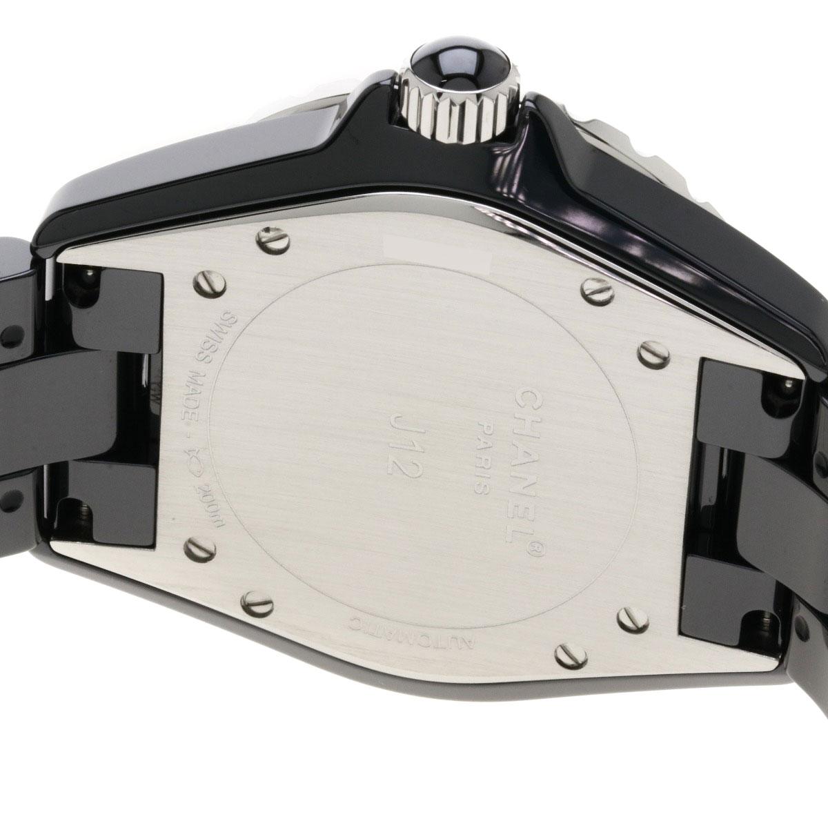 f908d1f8c9c4 シャネル H1635 J12 38 12Pルビー 腕時計 セラミック/セラミックxSS ...