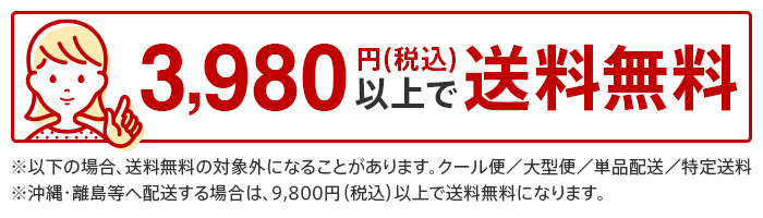 合計金額3980円以上で送料無料