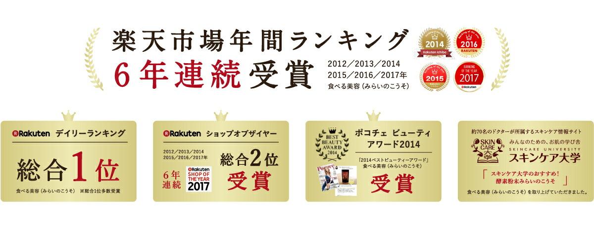 楽天年間ランキング6年連続受賞