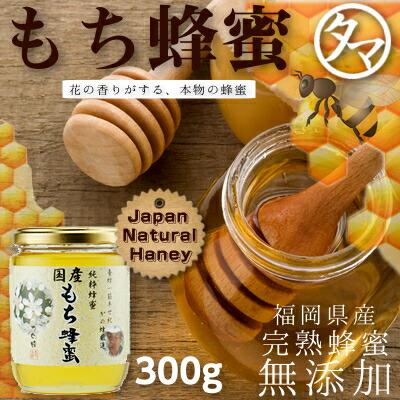 【九州 蜂蜜】国産もち蜂蜜(はちみつ) 300G 赤い実をつける黒金糯(くろがねもち)の花から採れるハチミツ。酸味があり、さわやかな後味があります。山の草木を思わせる風味です。まろやかなコクを持った奥深い蜂蜜です。 【無添加】【かの蜂蜜】【国産 ハチミツ】