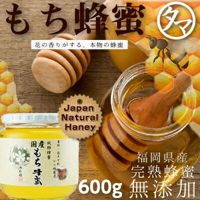 【九州 蜂蜜】国産もち蜂蜜(はちみつ) 600G 赤い実をつける黒金糯(くろがねもち)の花から採れるハチミツ。酸味があり、さわやかな後味があります。山の草木を思わせる風味です。まろやかなコクを持った奥深い蜂蜜です。 【無添加】【かの蜂蜜】【国産 ハチミツ】