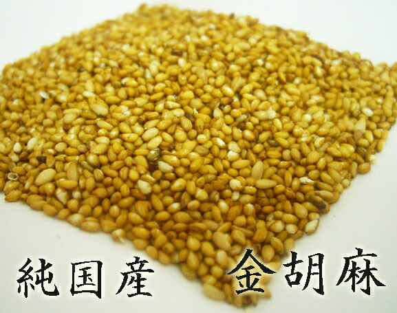 【送料無料】国産金ごま100g 九州の大地火の国熊本県で育った濃い黄色の色味と華やかな香り高さが特長の栄養満点のセサミン・ゴマリグナン豊富な金胡麻 国内自給率0.05%というまさに幻の国産ごま