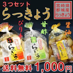 【宮崎県都城産らっきょう使用】~3つセット~ らっきょう