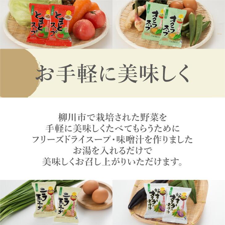 おいしい野菜たっぷりスープ・味噌汁8個セット