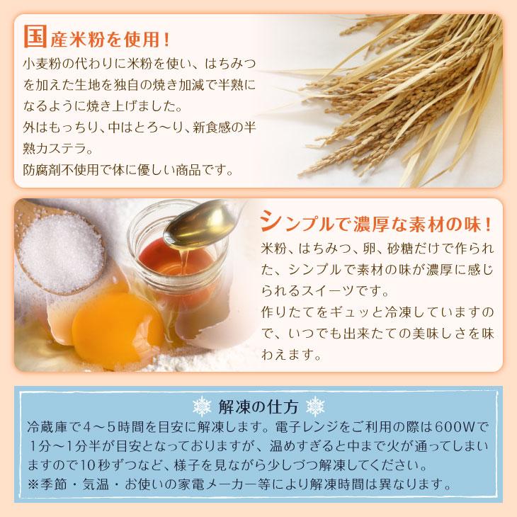 半熟米粉カステラ
