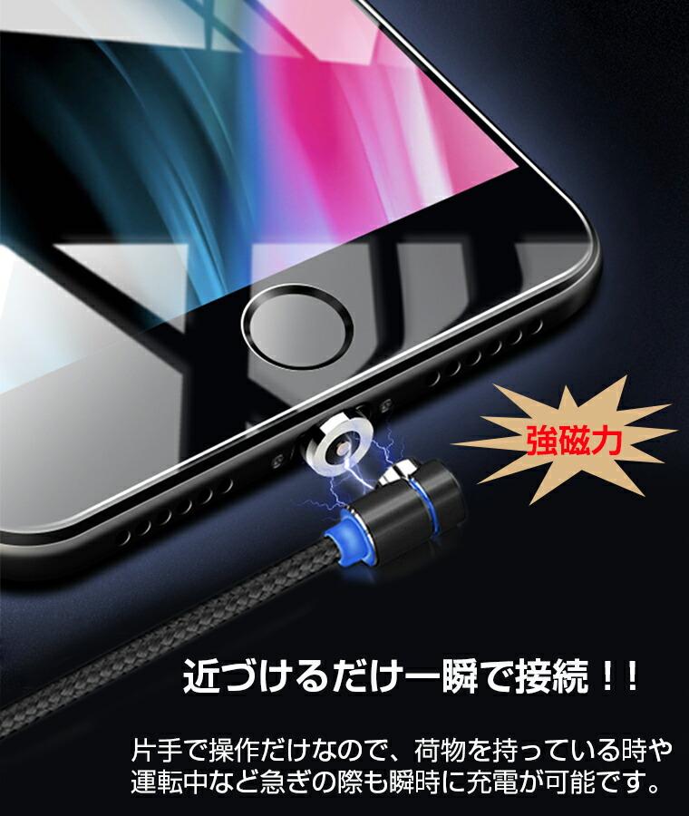 iPhone マグネットケーブル 防塵