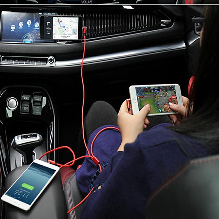 3in1 ケーブル スマートフォン