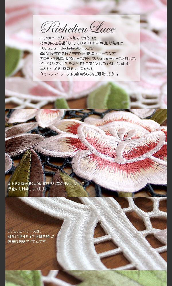 ハンガリーの伝統工芸品「カロチャ刺繍」を中国の刺繍技術で再現しました