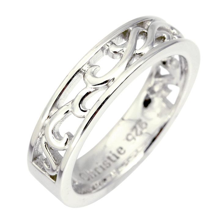 リング 指輪 シルバー LARA Christie ララクリスティー ランソー WHITE Label r6028-w