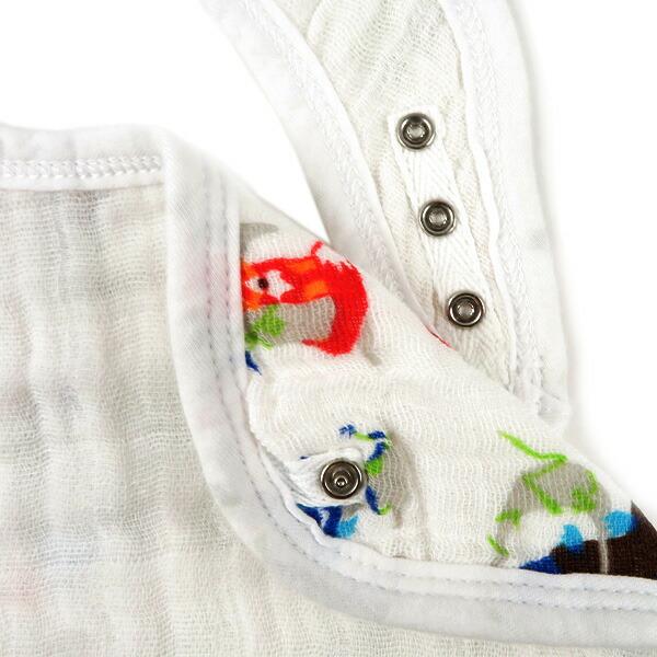 aden + anais エイデンアンドアネイ classic snap bib クラシック スナップ ビブ スナップ付き 3枚セット ベビー 新生児 よだれかけ スタイ アウトレット