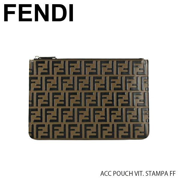 FENDI フェンディ ACC POUCH VIT. STAMPA FF 7N0078 A42P