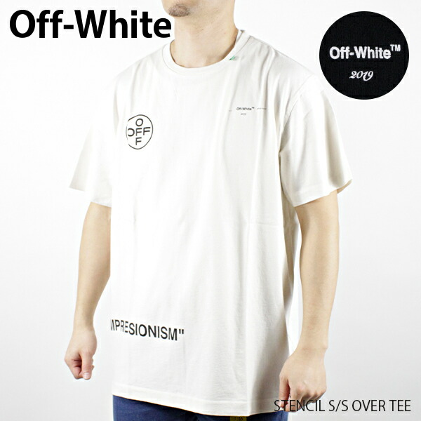 Off-White オフホワイト STENCIL S/S OVER TEE OMAA038R19185015