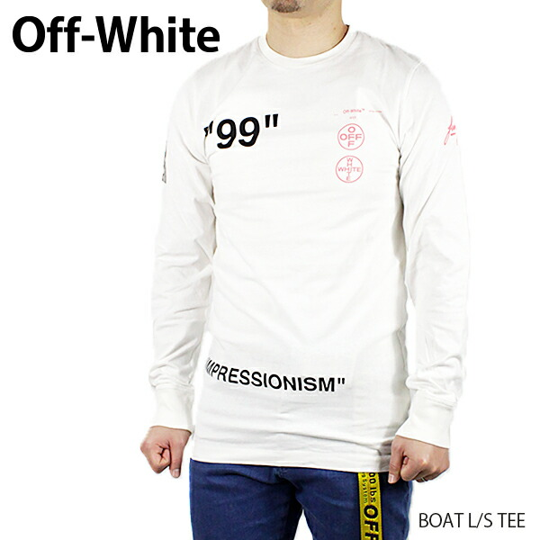 Off-White オフホワイト BOAT L/S TEE OMAB001R19185011