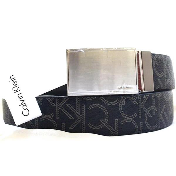 Calvin Klein Calvin Klein reversible CK logo synthetic leather belt men  accessories black ffb1d781edc