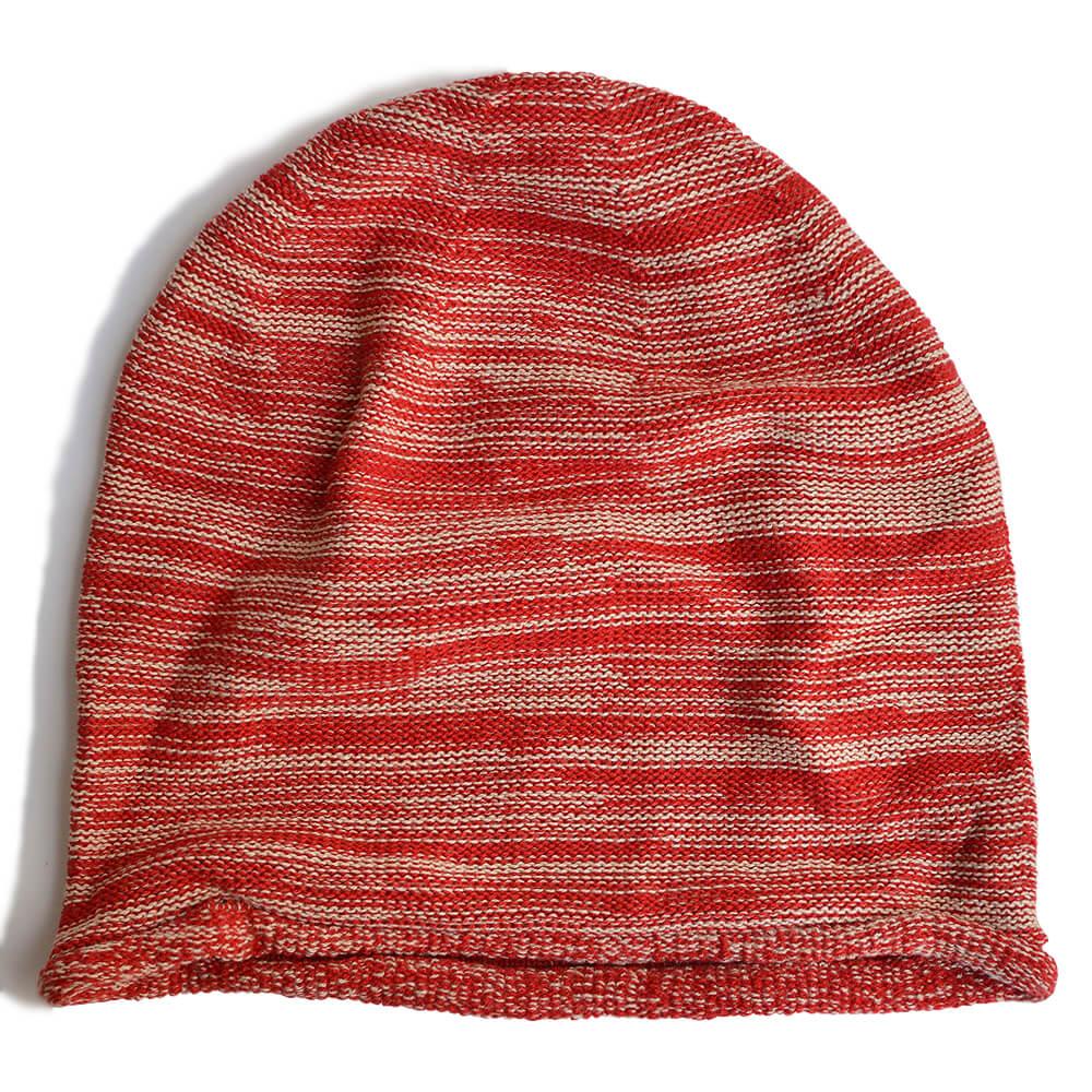 nakotaの帽子/ニット帽 ミックスレッド(46)