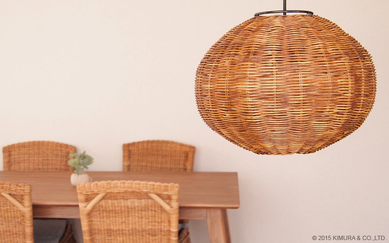 Asian style rattan lamps