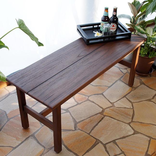 アジアン家具@CBi アクビィ チーク無垢木製 ダイニング用椅子 ベンチスツール