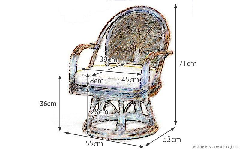 座面は360度回転し、膝と腰にやさしい思いやり設計