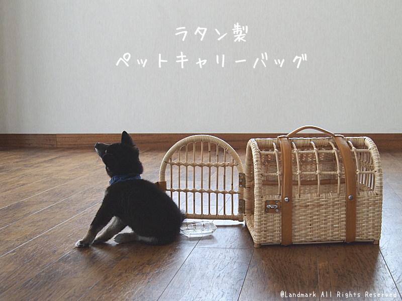 籐製ペットキャリーバッグ ラタン 籐カゴ