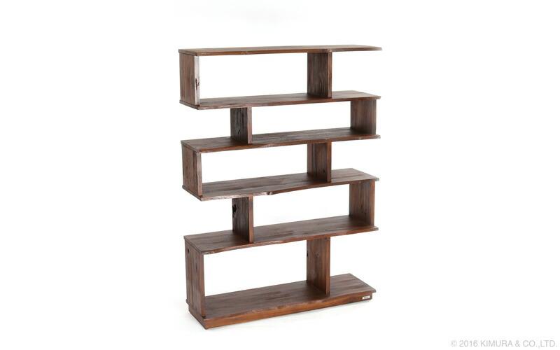 アジアン家具@CBi(アクビィ)シリーズのチーク無垢木製ディスプレイラック。