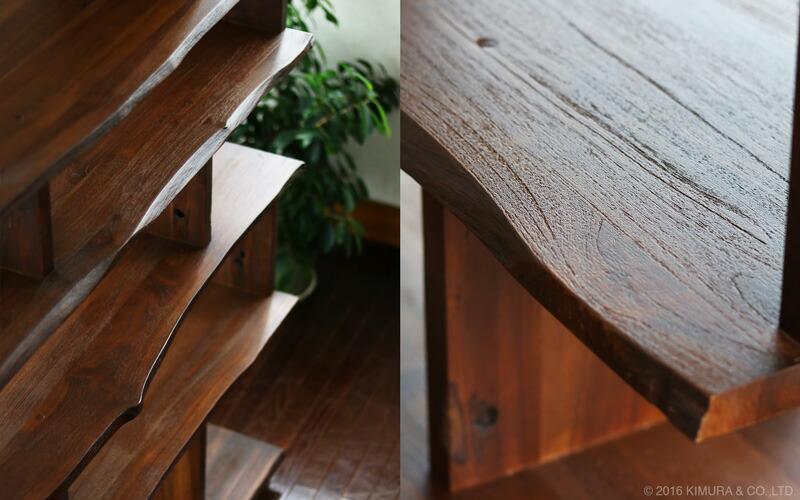 月日が経つ程風合いが増し、味わい深いアンティークでビンテージな家具に変化していきます。