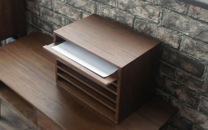 チーク無垢ケーブルボックス アジアン家具 木製