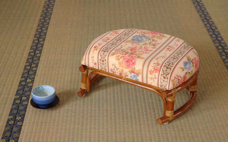 籐(ラタン)製 正座椅子 スツール sunflower rattan サンフラワーラタン キムララタン