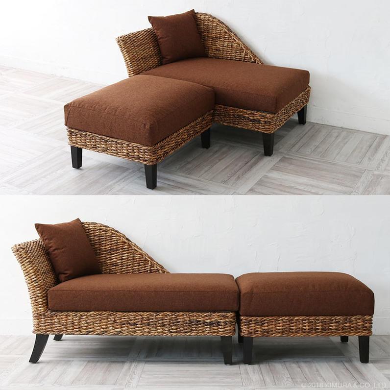 ソファーの横に合わせると、座面の幅を約168cmにする事ができるので、ゴロンと寝転がる事もできます。