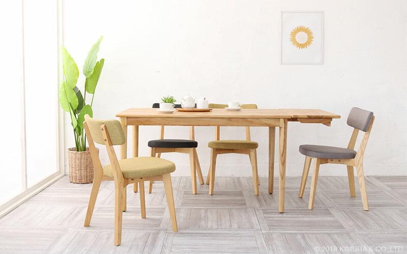 ZAGO チーク無垢木製 ダイニングテーブル 幅125cm 伸縮エクステンションセット (LGY425NY)