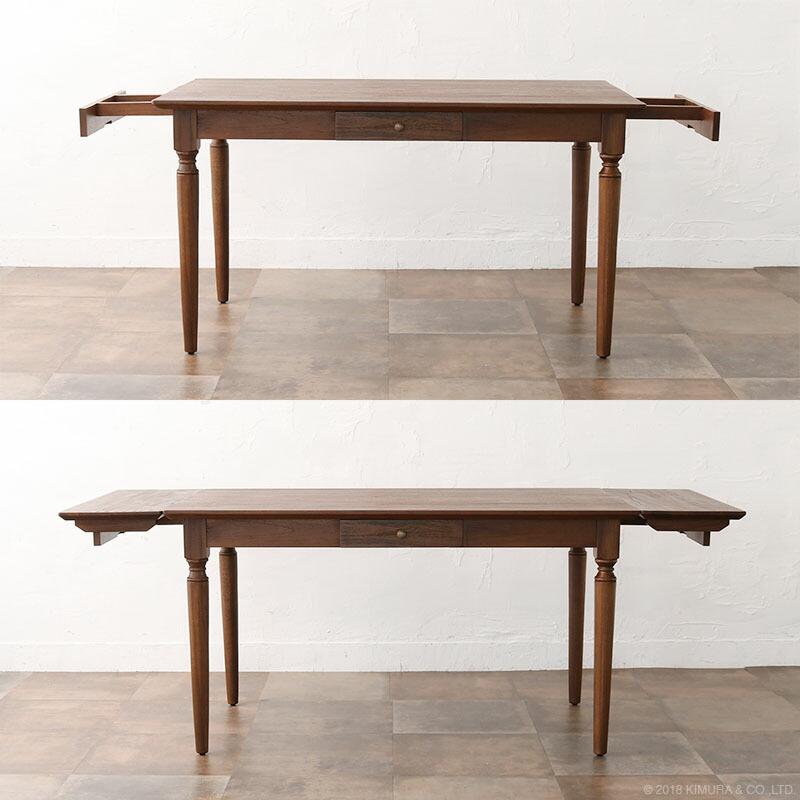 使用の状況に合わせて、最長195cmのテーブルとしてお使い頂けます