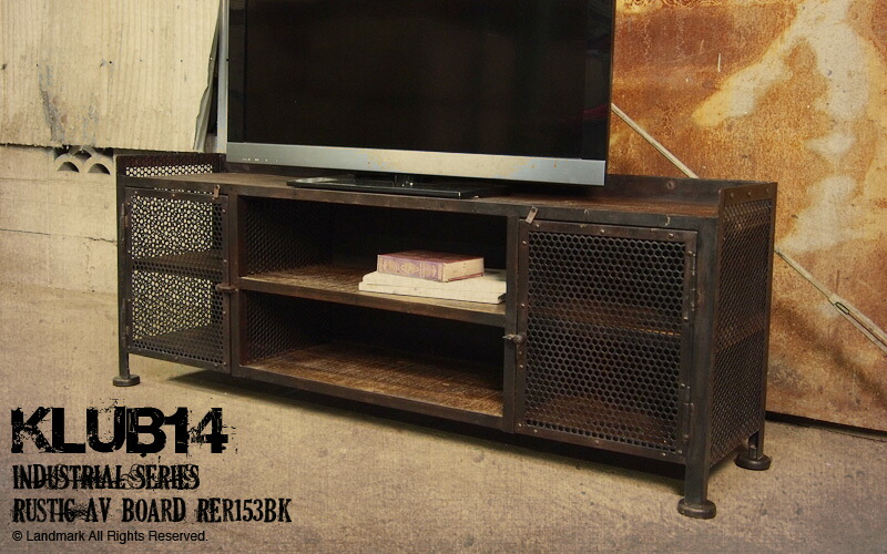 landmark rakuten global market industrial furniture tv stand tv board tv rustic av board. Black Bedroom Furniture Sets. Home Design Ideas